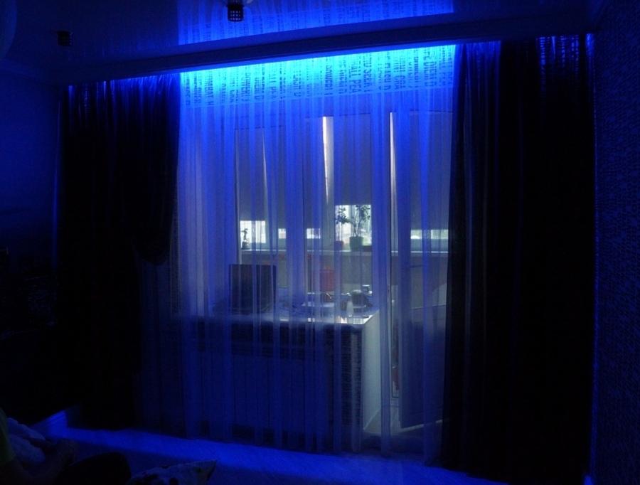 Светодиодное освещение на балконе..